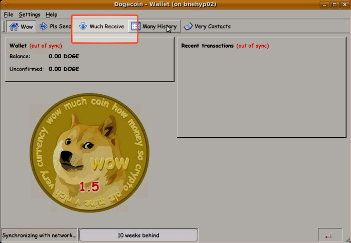 The dogcoin-qt application