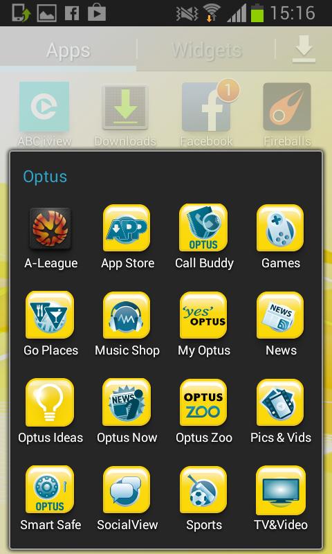 Optus crapware
