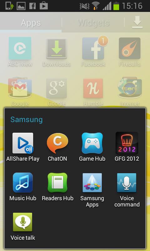 Samsung crapware