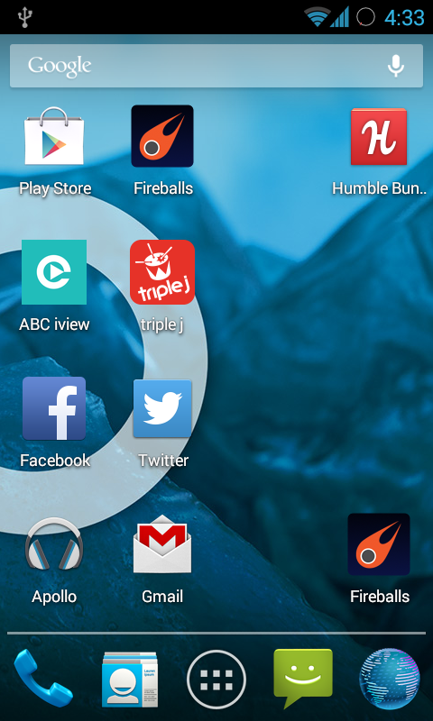 The leaner, faster, bluer cyanogenmod home screen 2
