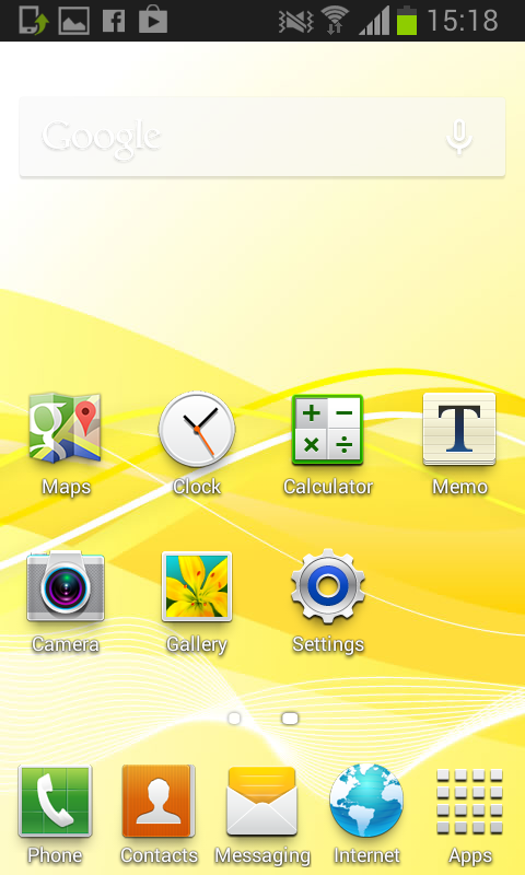Ye olde Samsung home screen 1
