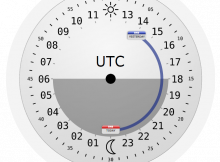 The time in UTC (with yesterday marked in blue, from the perpective of someone in Brisbane)